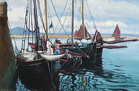 Cecil Maguire, Regatta, Roundstone at Morgan O'Driscoll Art Auctions