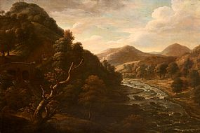 William Brocas, View of the River Lee at Inniscarra, Co Cork at Morgan O'Driscoll Art Auctions