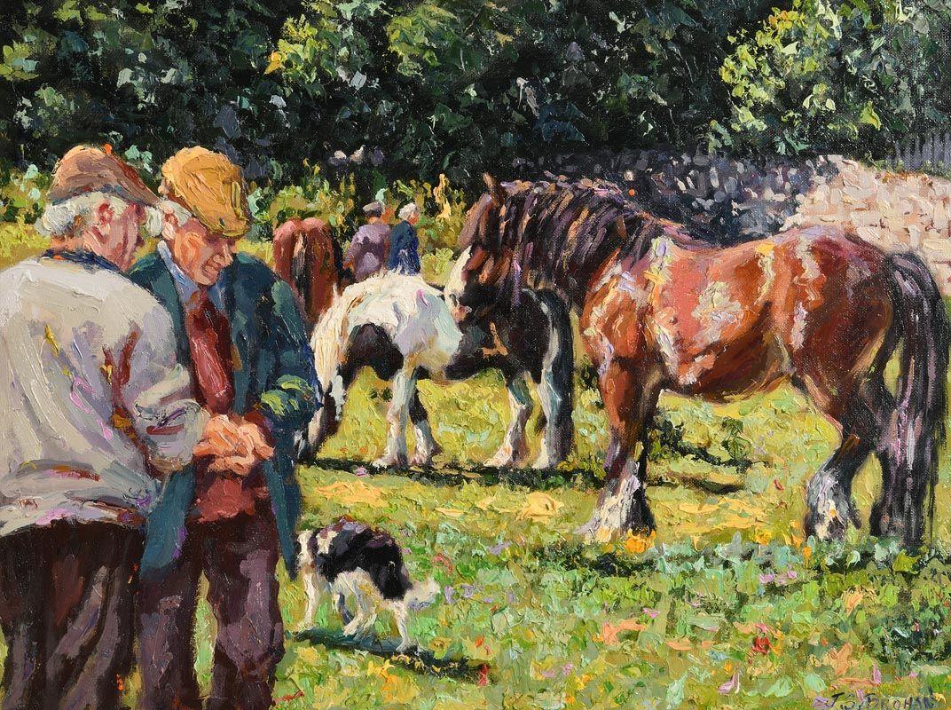 James S. Brohan, The Horse Fair at Morgan O'Driscoll Art Auctions