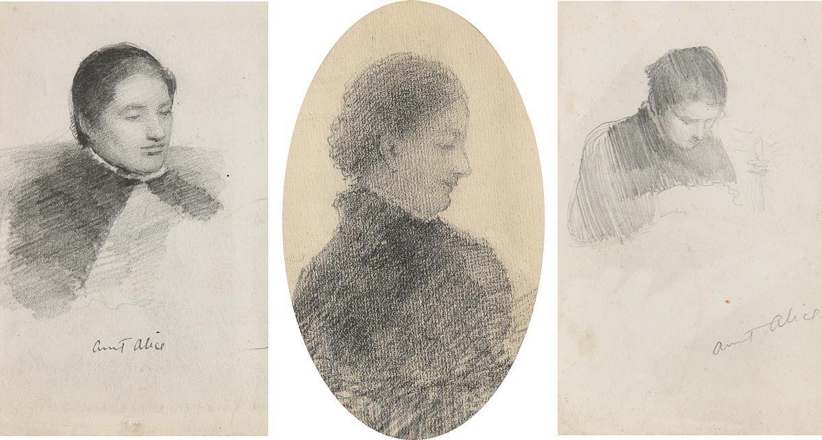 John Butler Yeats, Aunt Alice at Morgan O'Driscoll Art Auctions
