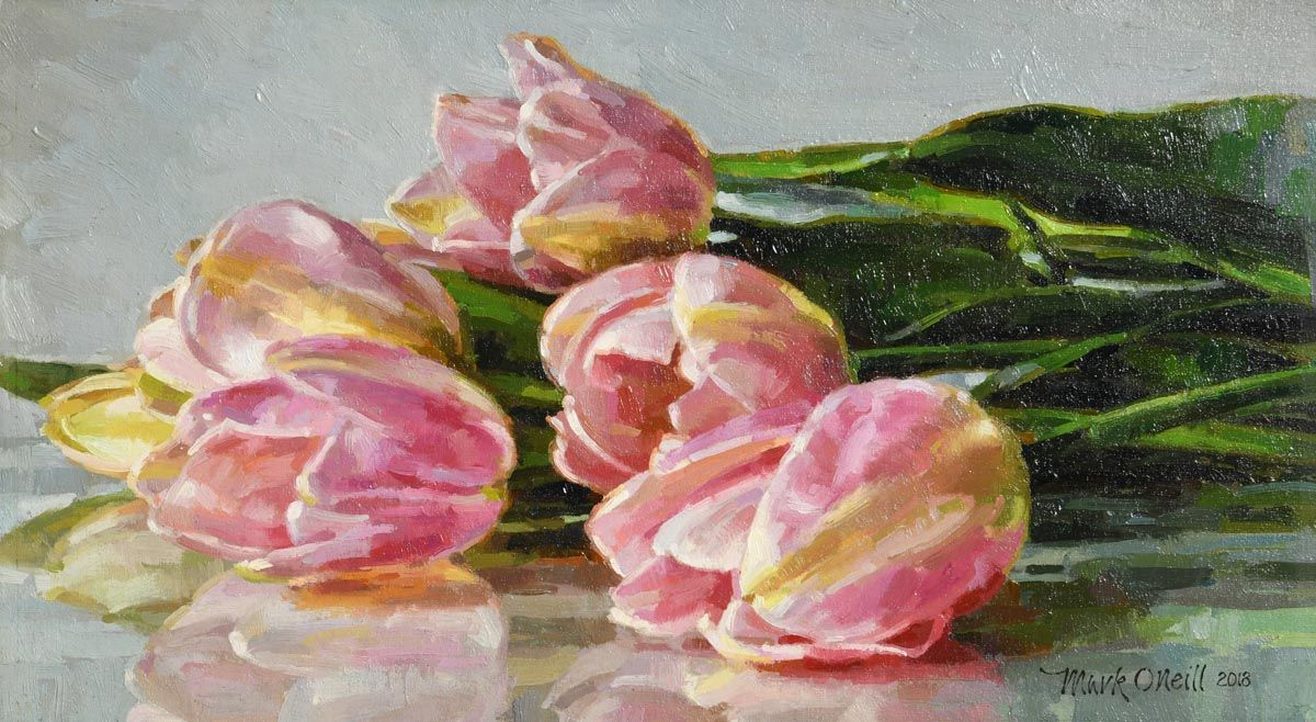 Mark O'Neill, Cottage Pinks at Morgan O'Driscoll Art Auctions