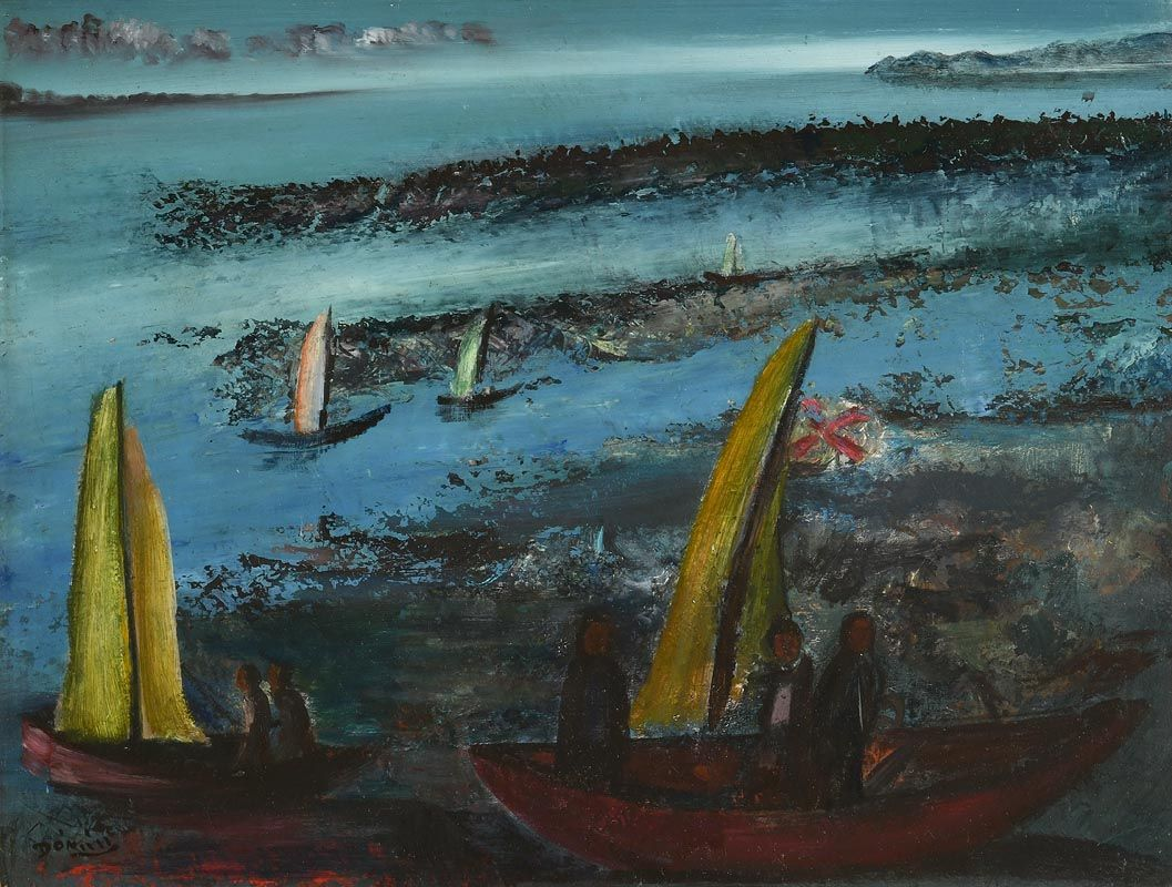 Daniel O'Neill, The Winners at Morgan O'Driscoll Art Auctions