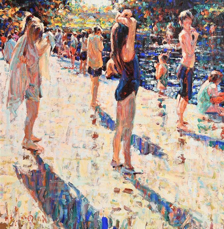 Arthur K. Maderson, Towards Evening, Lismore River Pool at Morgan O'Driscoll Art Auctions