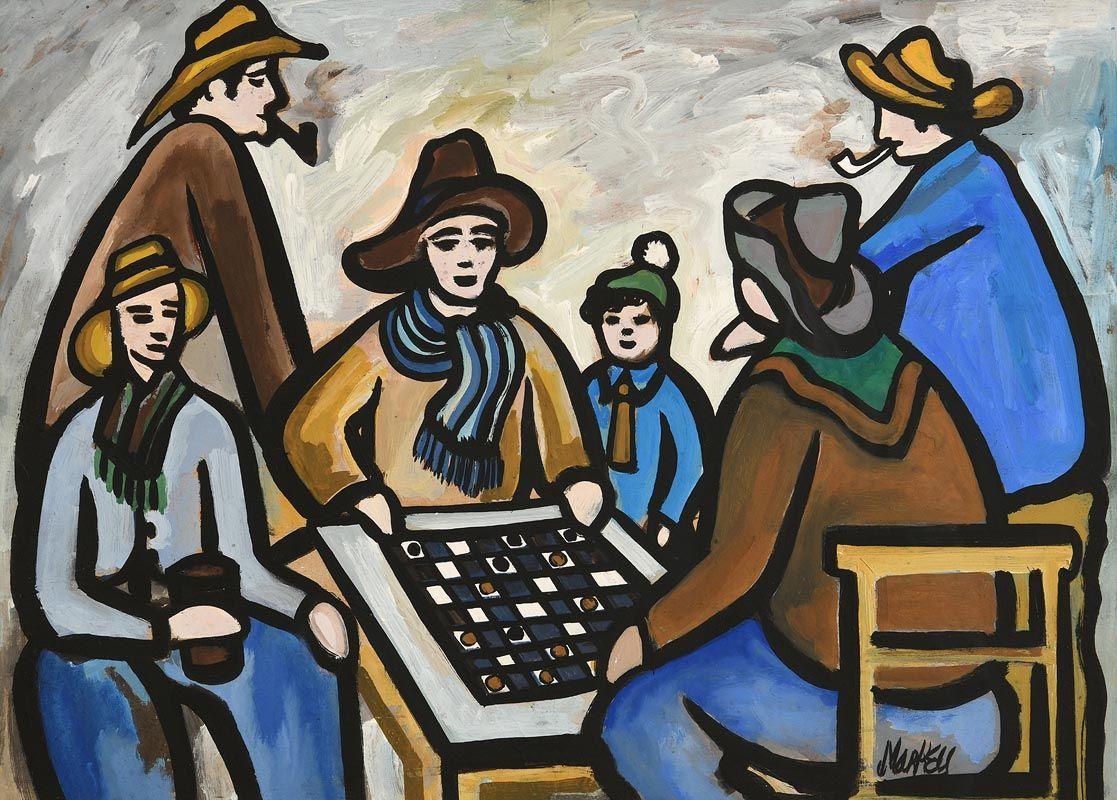 Markey Robinson, The Checkers Board at Morgan O'Driscoll Art Auctions