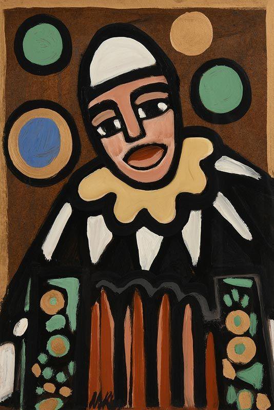 Markey Robinson, The Laughing Clown at Morgan O'Driscoll Art Auctions