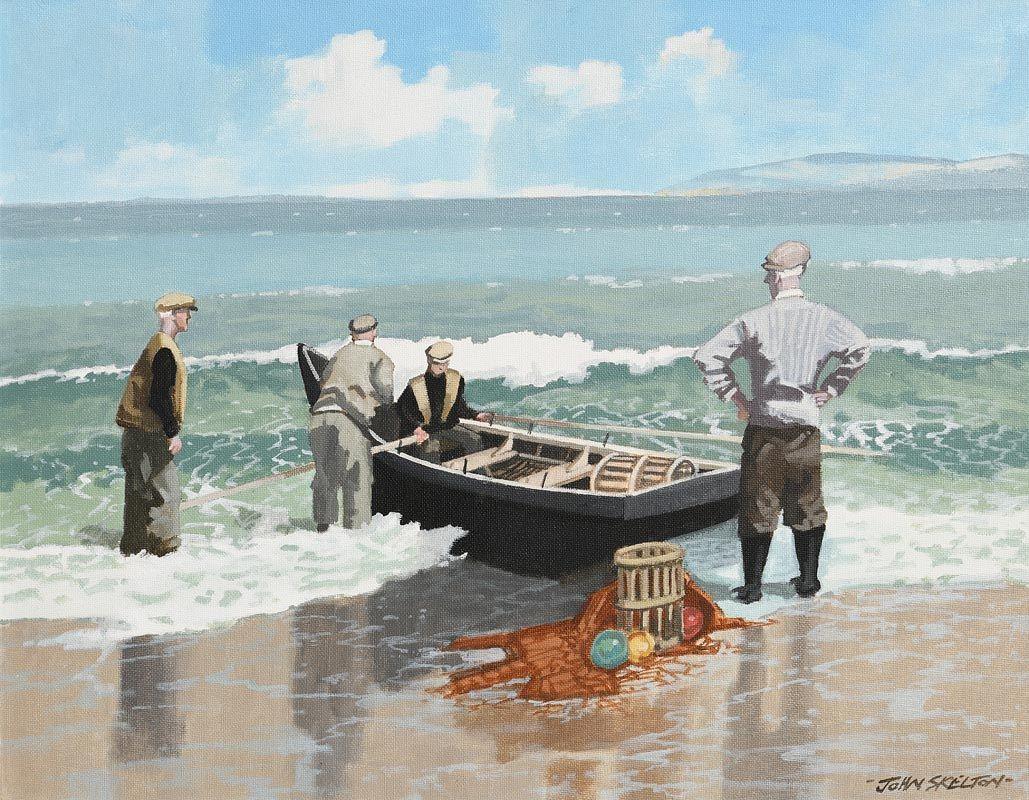 John Skelton, An Aran Scene, Inis Oirr, Aran at Morgan O'Driscoll Art Auctions