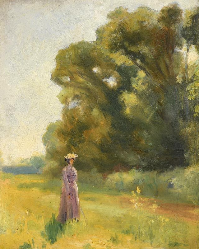 John Butler Yeats, Stroll in the Parkland at Morgan O'Driscoll Art Auctions