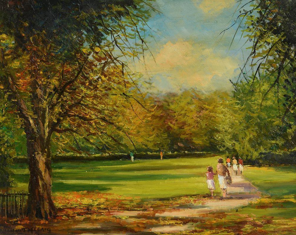 Norman J. McCaig, St. Stephen's Green, Dublin at Morgan O'Driscoll Art Auctions
