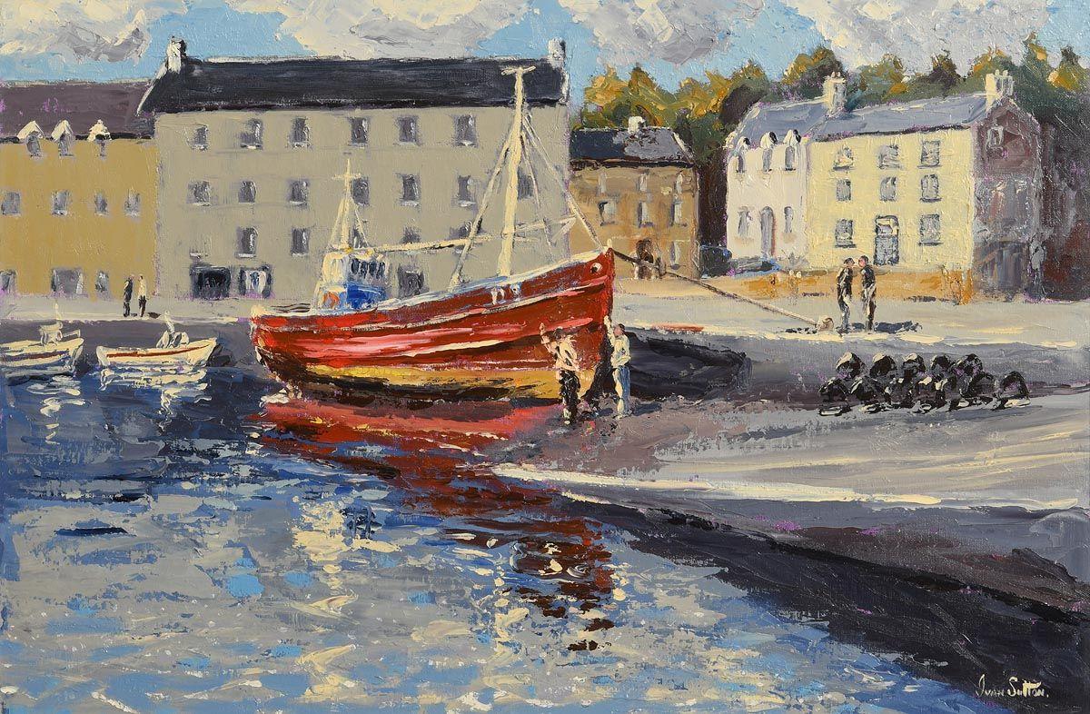 Ivan Sutton, Bunbeg Harbour, Co Donegal at Morgan O'Driscoll Art Auctions