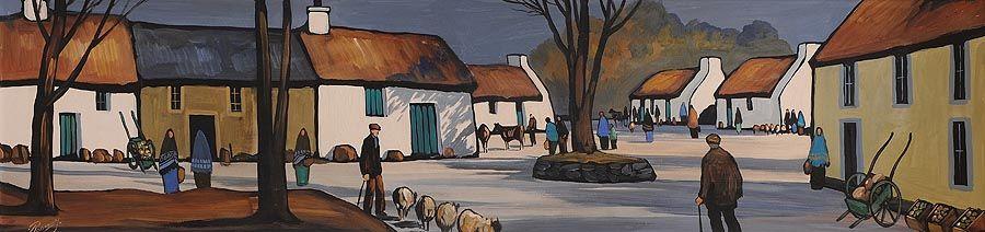 J.P. Rooney (b.1947), Village Square at Morgan O'Driscoll Art Auctions