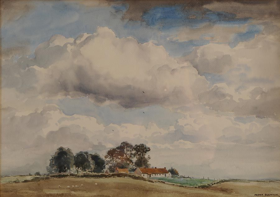 Frank Egginton RCA (1908-1990), Thatched Cottage, West of Ireland at Morgan O'Driscoll Art Auctions