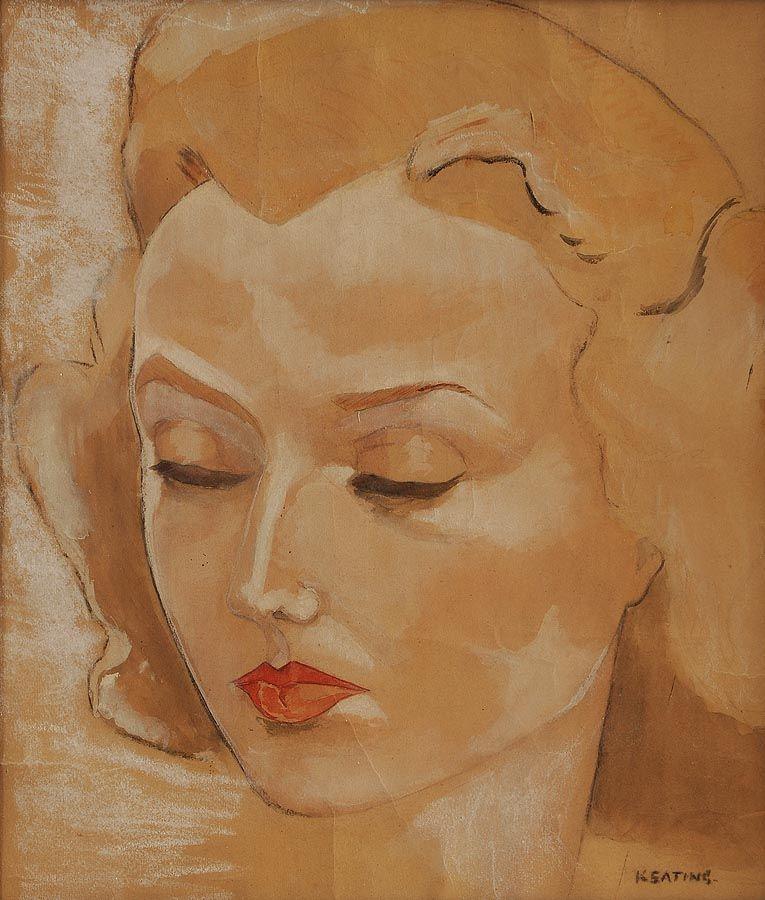 Sean Keating PRHA HRA  HRSA (1889-1978), Female Study at Morgan O'Driscoll Art Auctions