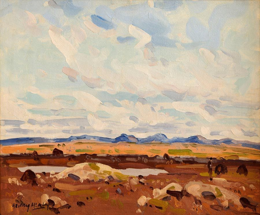 Henry Healy RHA (1901-1982), The Twelve Bens Connemara at Morgan O'Driscoll Art Auctions