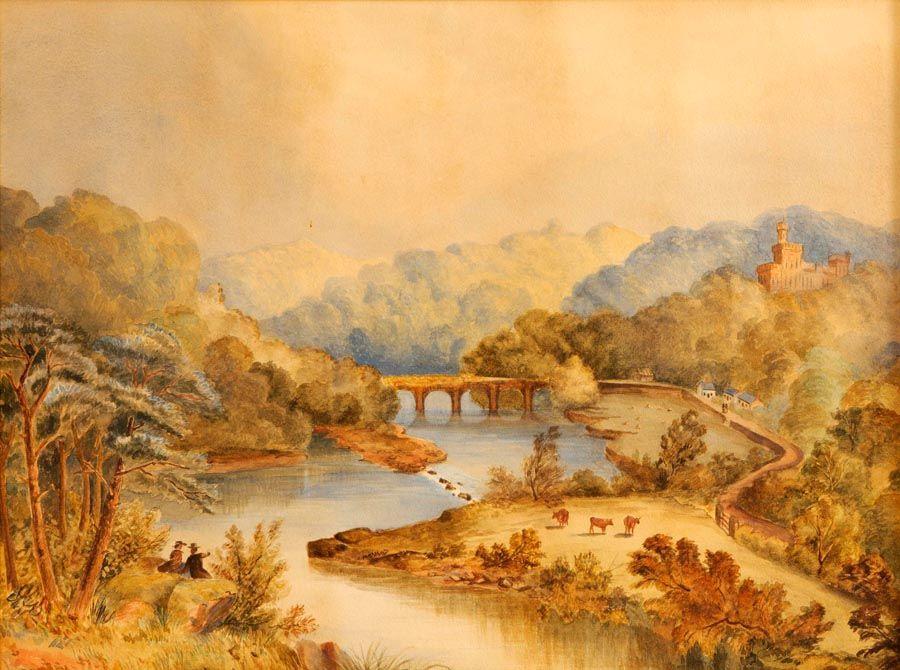 John E Bosanquet (act.c.1854-c.1869), View of Corr Castle, Innishannon, Co Cork at Morgan O'Driscoll Art Auctions