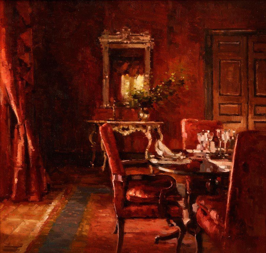 Mark O'Neill (b.1963), Little Diningroom Red at Morgan O'Driscoll Art Auctions