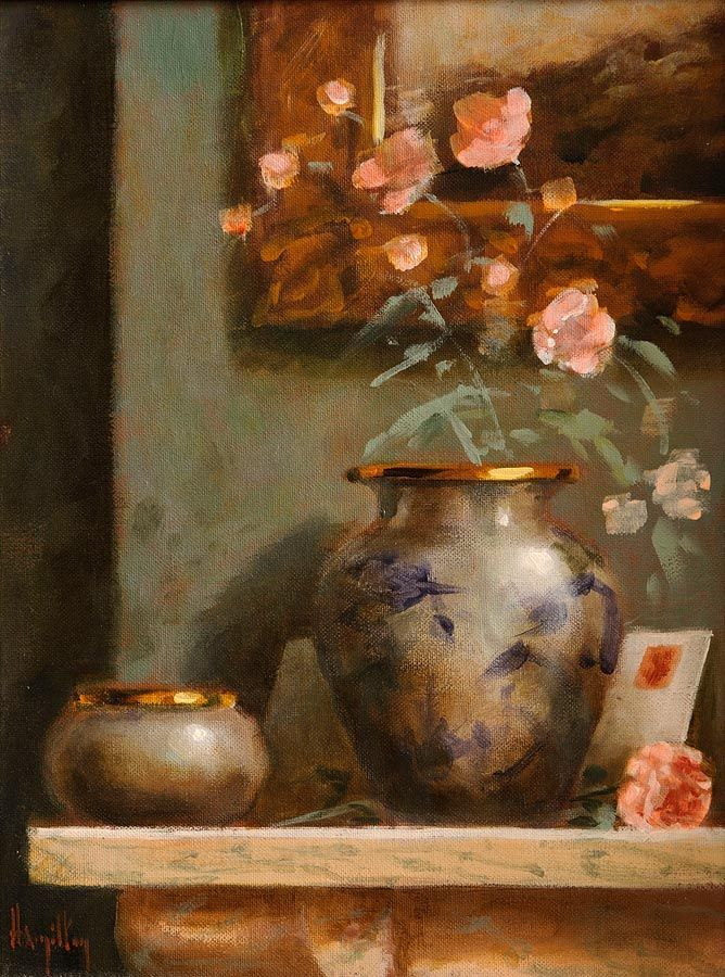 Ken Hamilton (b.1956), Still Life, Flowers in a Vase at Morgan O'Driscoll Art Auctions