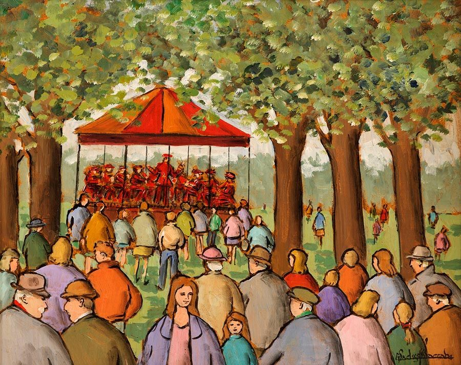 Gladys MacCabe ROI FRSA MA HRUA (1918-2018), The Bandstand, St. Stephen's Green at Morgan O'Driscoll Art Auctions