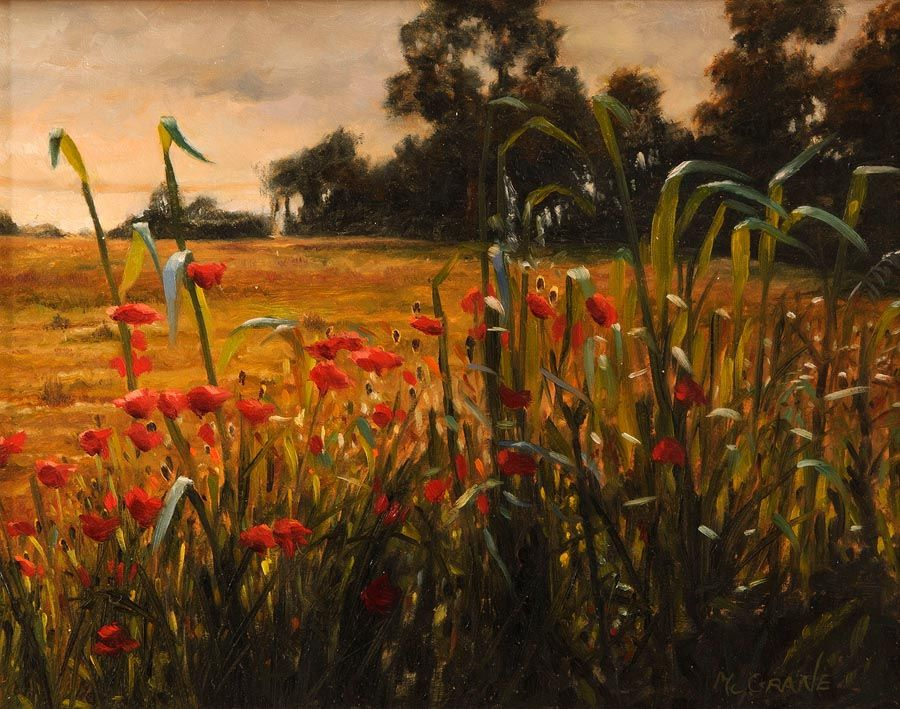 Henry McGrane (b.1969), Landscape with Poppies at Morgan O'Driscoll Art Auctions