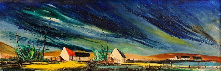 Norman J. McCaig (1929-2001), Antrim Farmhouse at Morgan O'Driscoll Art Auctions