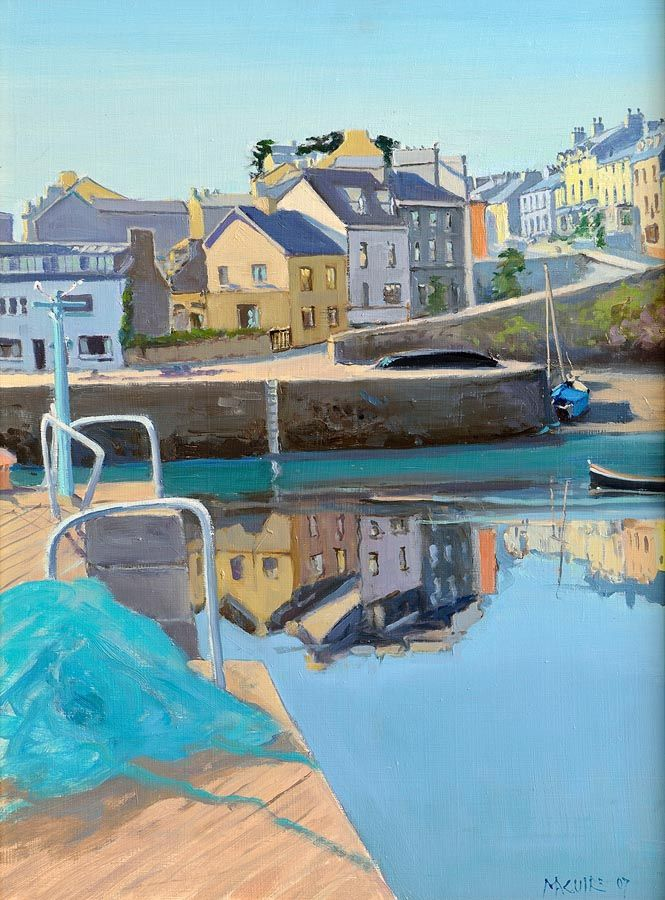 Cecil Maguire RHA RUA (b.1930), The Harbour, Roundstone at Morgan O'Driscoll Art Auctions