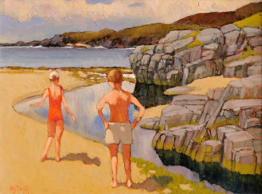 Norman J. Smyth RUA (20th/21st Century), Doagh, Co. Donegal, On The Atlantic Drive at Morgan O'Driscoll Art Auctions