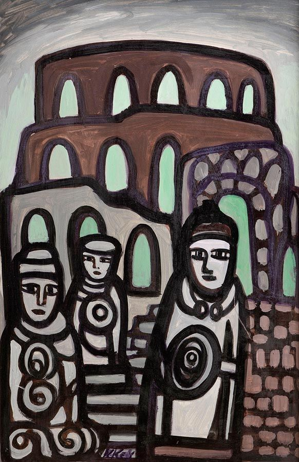 Markey Robinson (1918-1999), Celtic Figures at Morgan O'Driscoll Art Auctions