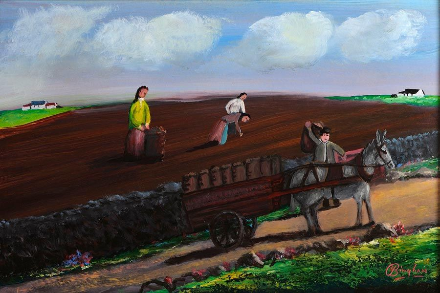 Jimmy Bingham (1925-2009), The Potato Pickers at Morgan O'Driscoll Art Auctions