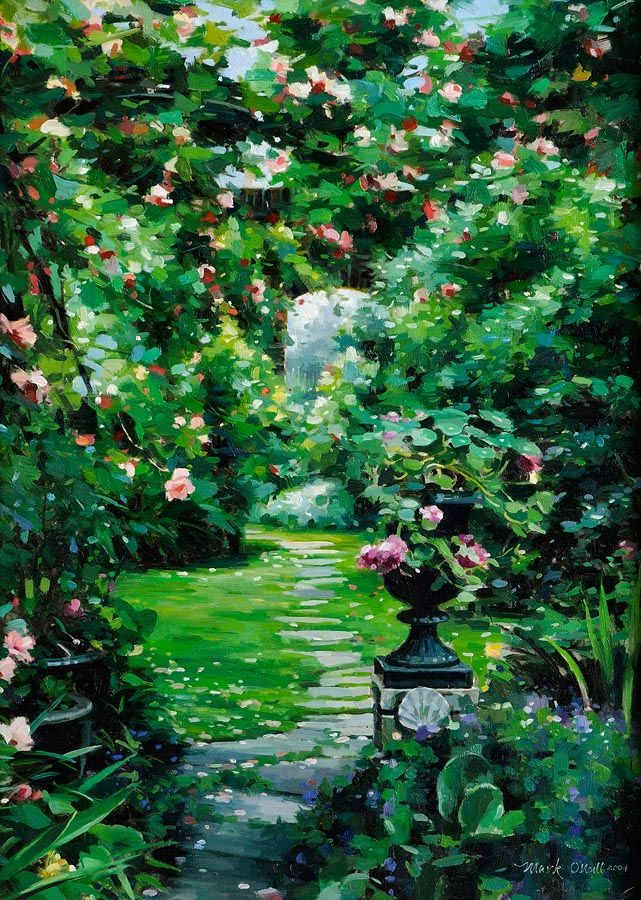 Mark O'Neill (b.1963), The Garden Path at Morgan O'Driscoll Art Auctions