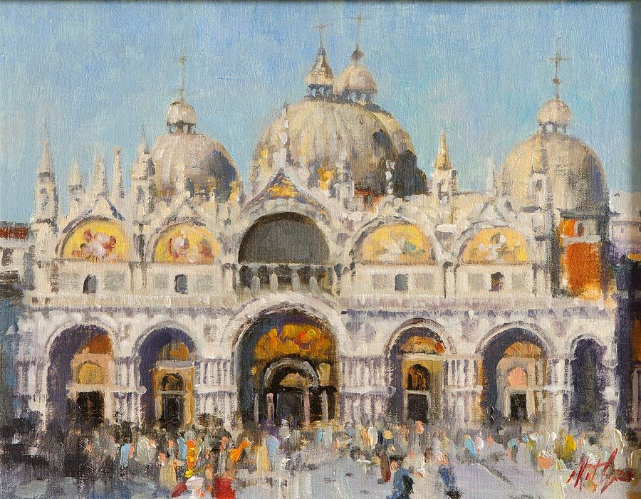Mat Grogan (20th/21st Century), Basilica San Marco at Morgan O'Driscoll Art Auctions