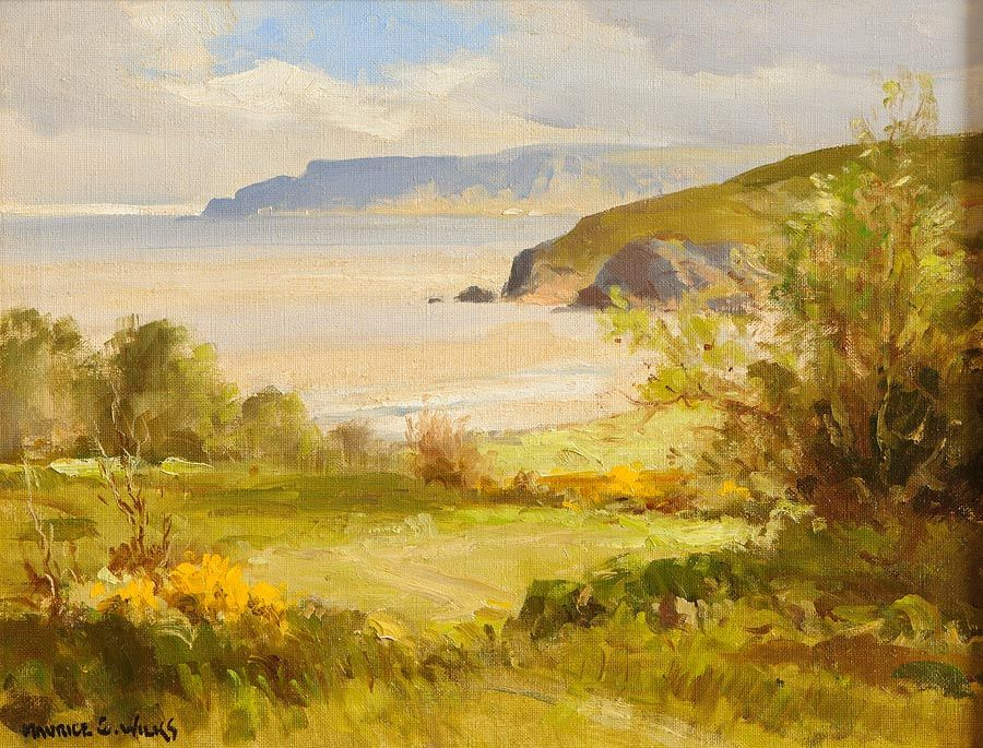 Maurice Canning Wilks ARHA RUA (1911-1984), Above Cushendun, Co. Antrim at Morgan O'Driscoll Art Auctions