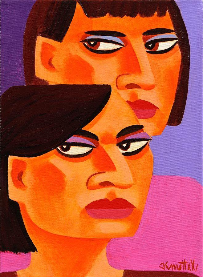 Graham Knuttel (b.1954), Sisters at Morgan O'Driscoll Art Auctions