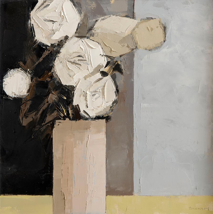 Paul Donaghy (20th/21st Century), White Roses at Morgan O'Driscoll Art Auctions