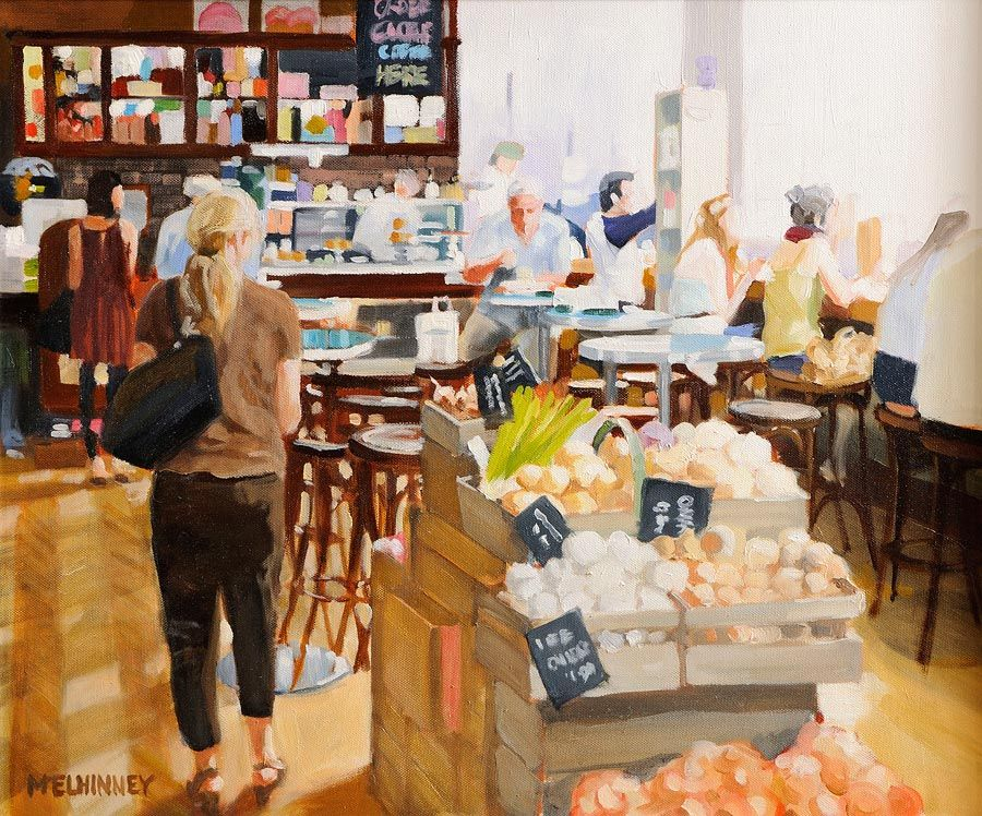 David McElhinney (b.1972), The Food Hall at Morgan O'Driscoll Art Auctions