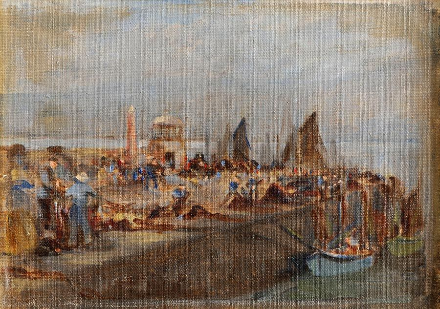 Francis S. Day (19th/20th Century), Landing The Catch, St. Ives at Morgan O'Driscoll Art Auctions