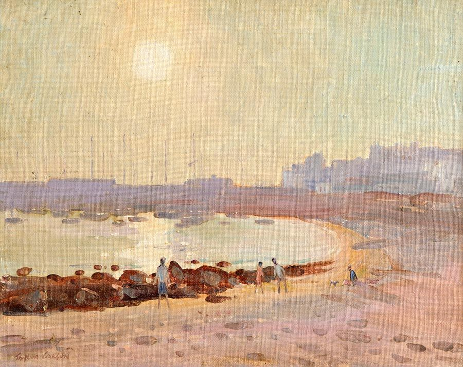 Robert Taylor Carson HRUA (1919-2008), Harbour & Beach, Los Cristianos at Morgan O'Driscoll Art Auctions