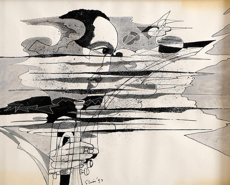 Piet Sluis (b.1929), Trumpet Player at Morgan O'Driscoll Art Auctions