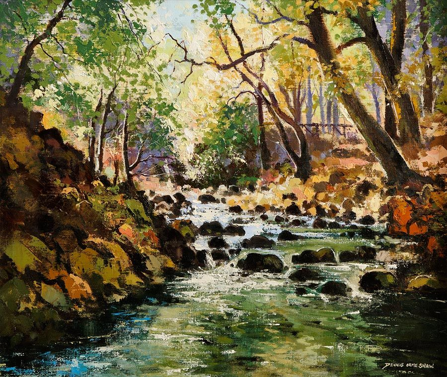 Denis Orme Shaw (20th/21st Century), Tollymore Forest Park at Morgan O'Driscoll Art Auctions