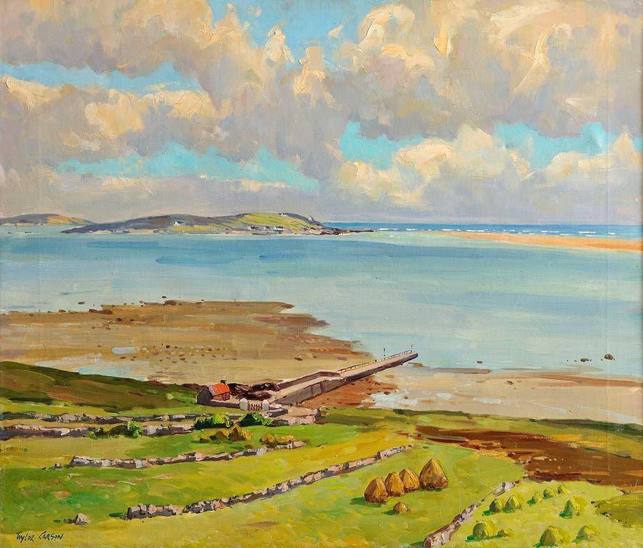 Robert Taylor Carson HRUA (1919-2008), Low Tide, Meenaclady Co. Donegal at Morgan O'Driscoll Art Auctions
