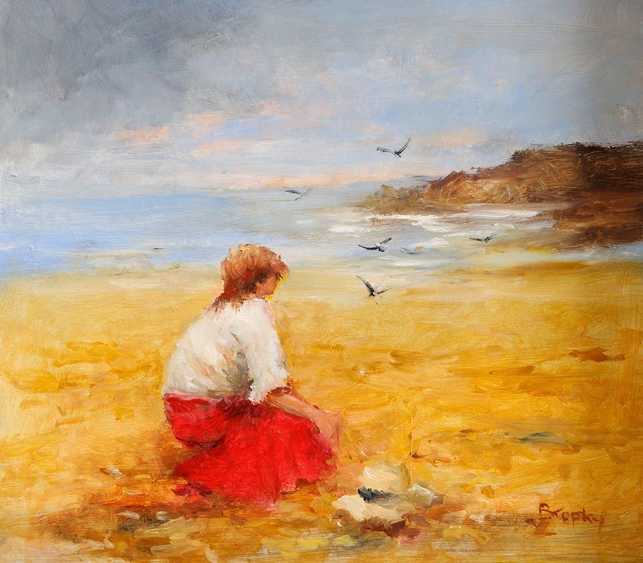 Elizabeth Brophy (20th/21st Century), Collecting Shells at Morgan O'Driscoll Art Auctions
