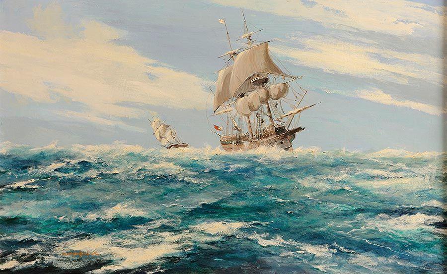 George Gillespie RUA (1924-1996), Full Sail at Morgan O'Driscoll Art Auctions