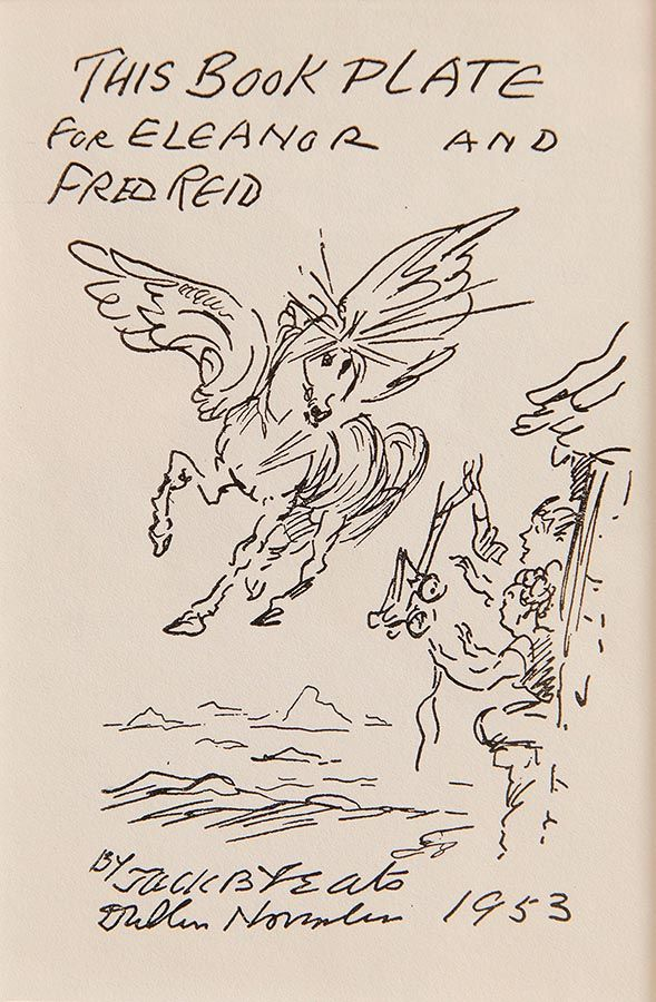 Jack Butler Yeats RHA (1871-1957), Book Plate for Eleanor and Fred Reid at Morgan O'Driscoll Art Auctions