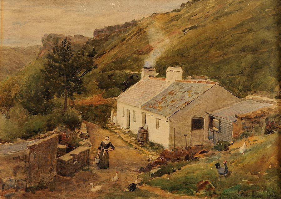 Joseph Poole Addey (1852-1922), Hillside Cottage at Morgan O'Driscoll Art Auctions