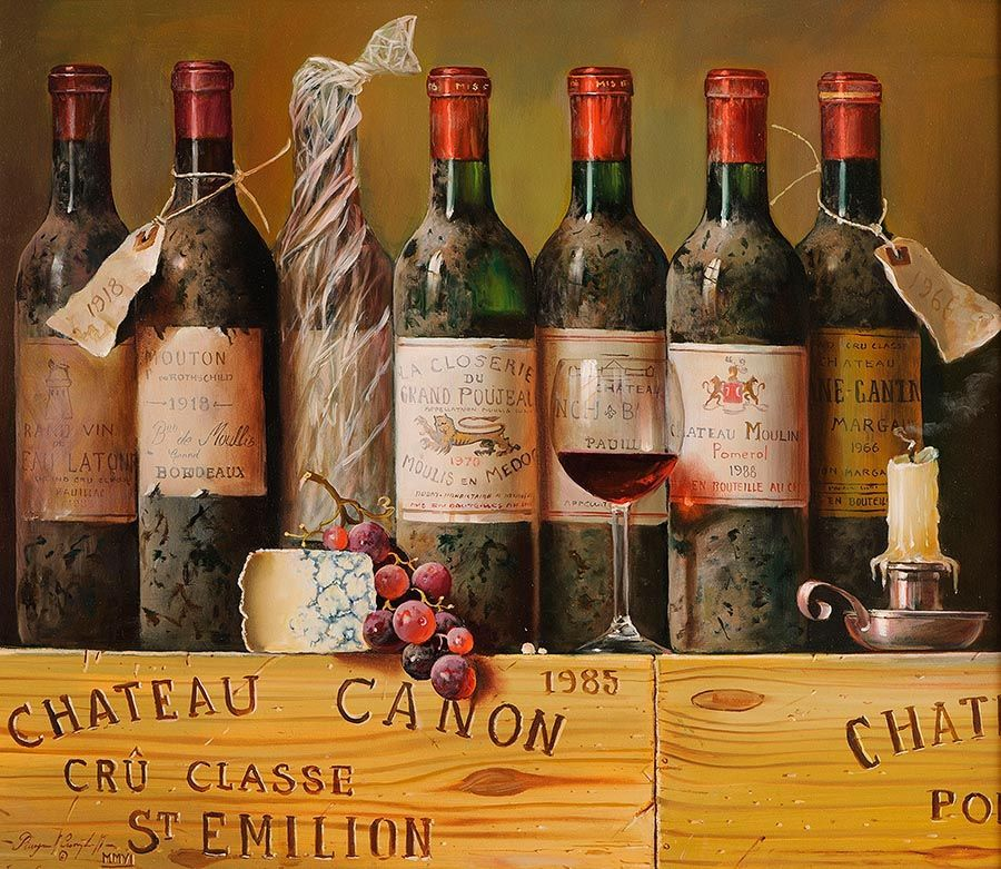 Raymond Campbell (b.1956) British, Still Life, Bottles of Wine at Morgan O'Driscoll Art Auctions