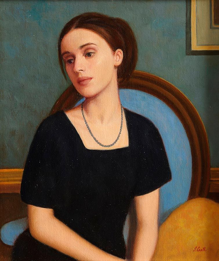 James Cahill (20th/21st Century), Girl in Blue at Morgan O'Driscoll Art Auctions