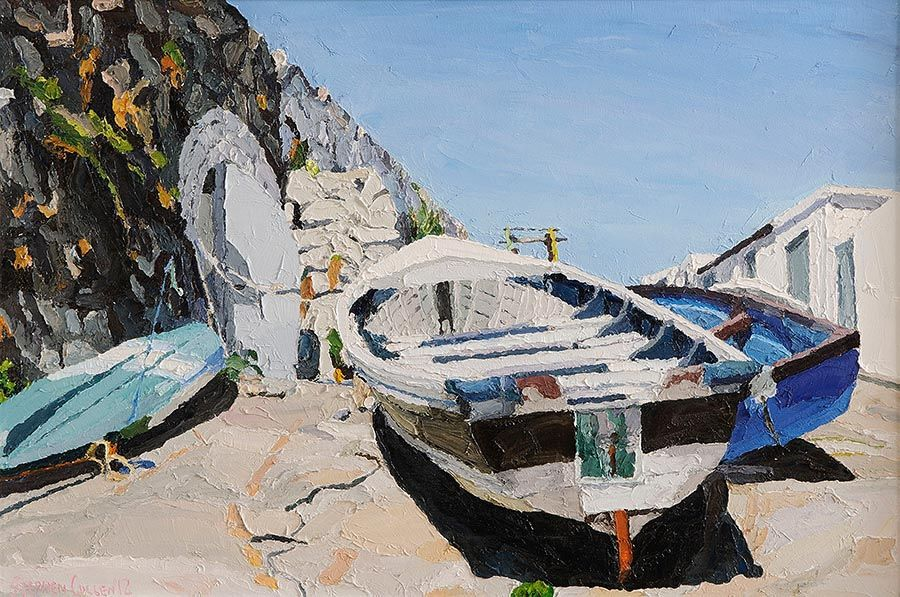 Stephen Cullen (b.1959), Boats on the Dry at Morgan O'Driscoll Art Auctions