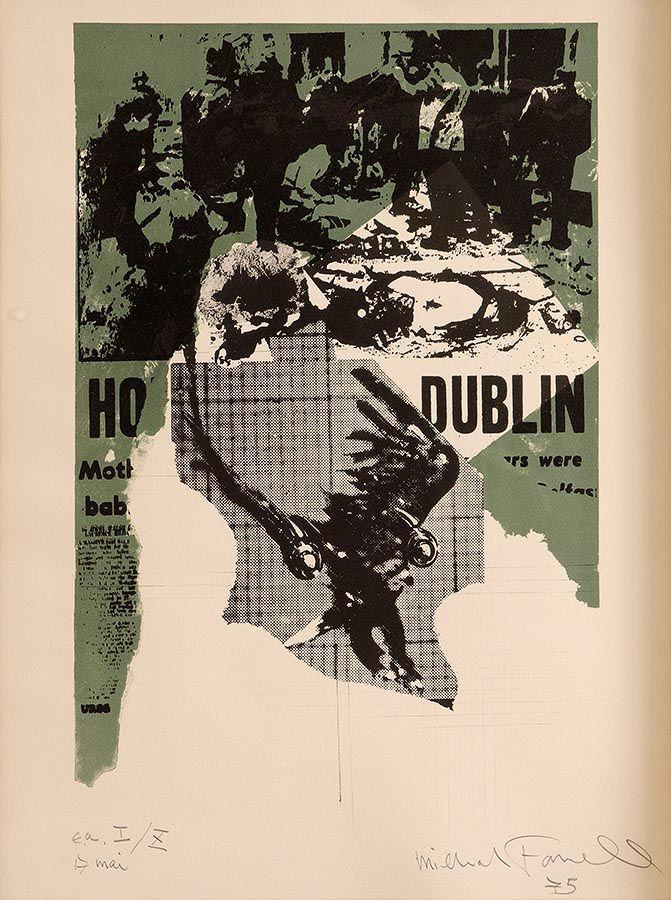 Michael Farrell (1940-2000), Dublin Bombing 17 Mai at Morgan O'Driscoll Art Auctions
