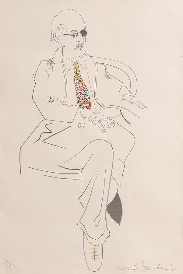 Michael Farrell (1940-2000), Study of Jack B. Yeats (Tie Series) at Morgan O'Driscoll Art Auctions