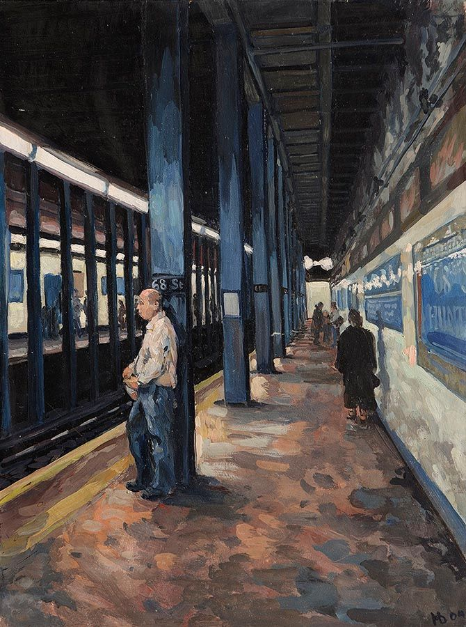 Hector McDonnell RUA (b.1947), 68th Street Subway, New York at Morgan O'Driscoll Art Auctions