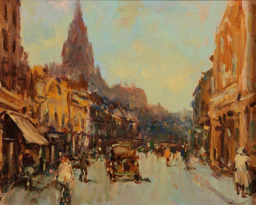 Ken Moroney (b.1949), Patrick St. Dublin, Looking South at Morgan O'Driscoll Art Auctions