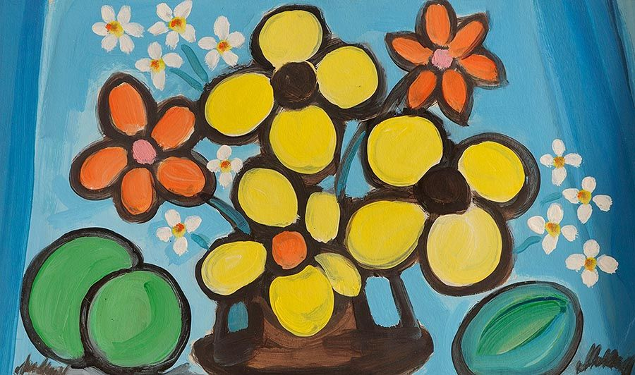 Markey Robinson (1918-1999), Still Life, Flowers and Fruit at Morgan O'Driscoll Art Auctions